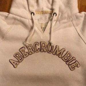 Abercrombie & Fitch Tops - White hoodie